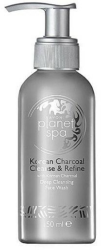 Tiefenreinigendes Gesichtswaschgel mit koreanischer Aktivkohle - Avon Planet SPA Korean Charcoal Face Wash