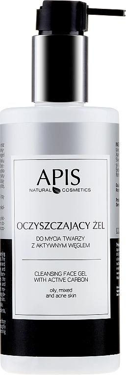 Gesichtsreinigungsgel mit Aktivkohle - APIS Professional Cleansing Gel