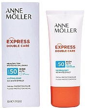 Düfte, Parfümerie und Kosmetik Sonnenschutzfluid für das Gesicht SPF 50 - Anne Moller Double Care Ultralight Facial Protection Fluid SPF50