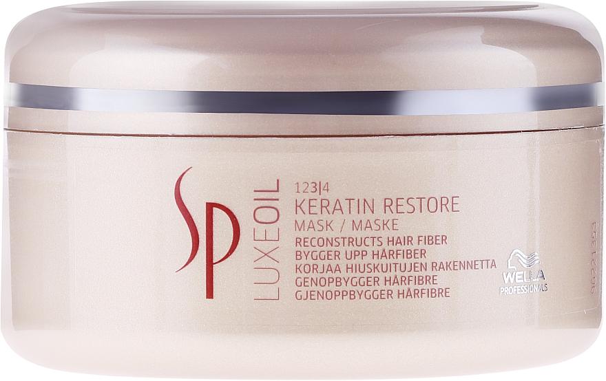 Regenerierende Haarmaske mit Keratin - Wella SP Luxe Oil Keratin Restore Mask