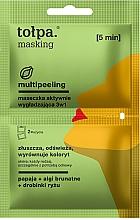 Düfte, Parfümerie und Kosmetik 3in1 Glättende Gesichtsmaske mit Papaya, Braunalgen, Reispartikeln - Tolpa Masking Multipeeling Actively Smoothing Mask 3in1