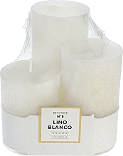 Düfte, Parfümerie und Kosmetik Duftkerzen Lino Blanco 3er Pack - Artman Glass Classic Perfume №8 Lino Blanco Aroma Candle