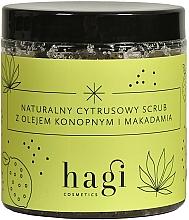 Düfte, Parfümerie und Kosmetik Natürliches Zitruspeeling für den Körper für trockene und normale Haut mit Hanf- und Macadamiaöl - Hagi Scrub