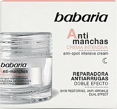 Düfte, Parfümerie und Kosmetik Intensive Anti-Falten Nachtcreme für das Gesicht gegen Pigmentflecken - Babaria Anti-Dark Spot Intensive Cream
