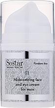Düfte, Parfümerie und Kosmetik Feuchtigkeitsspendende Gesichts- und Augencreme - Sostar Moisturizing Moisturizing Face & Eye Cream For Men