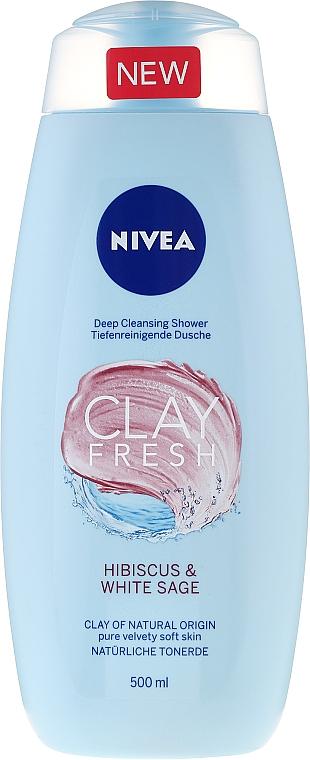 """Duschgel für weiche Haut """"Hibiskus und Weißer Salbei"""" - Nivea Clay Fresh Hibiscus & White Sage — Bild N1"""