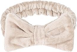 Düfte, Parfümerie und Kosmetik Kosmetisches Haarband Wow Bow beige - Makeup Beige Hair Band
