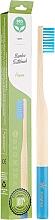 Düfte, Parfümerie und Kosmetik Bambuszahnbürste weich blau - Biomika Natural Bamboo Toothbrush