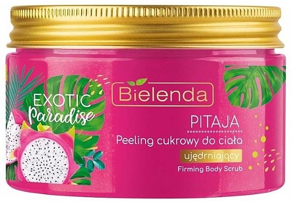 Festigendes Zuckerpeeling für den Körper mit Drachenfrucht - Bielenda Exotic Paradise Peel