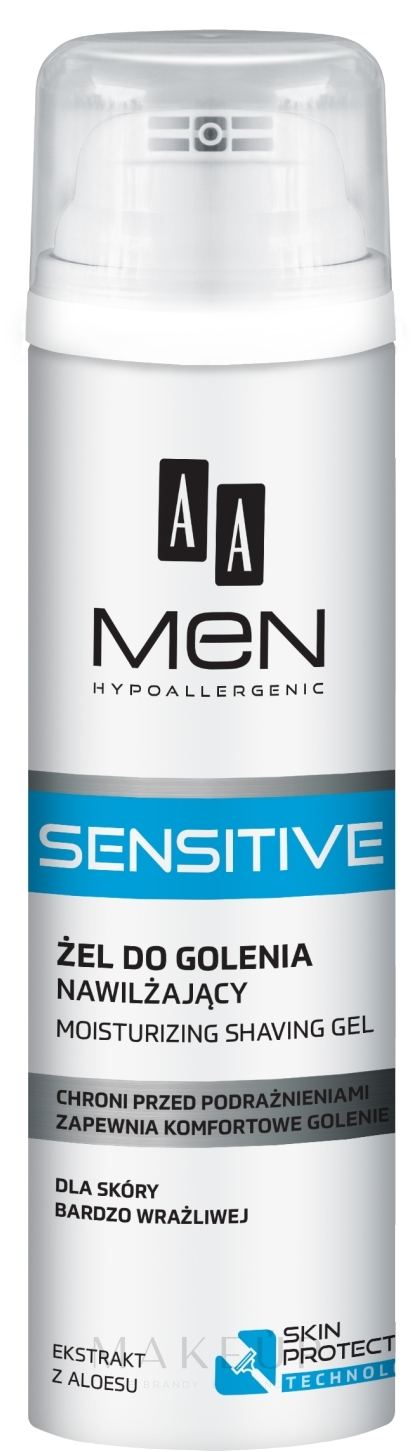 Intensiv feuchtigkeitsspendendes Rasiergel für empfindliche Haut - AA Men Sensitive Moisturizing Shaving Gel — Bild 200 ml