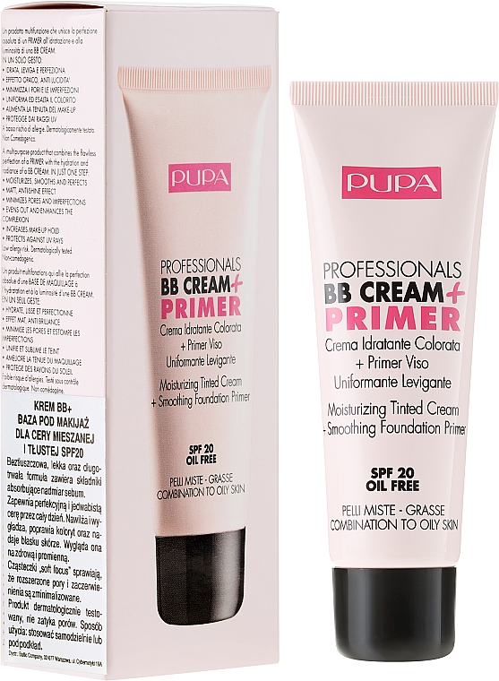 Anti-Aging BB Creme SPF 20 - Pupa BB Cream + Primer For Combination To Oily Skin