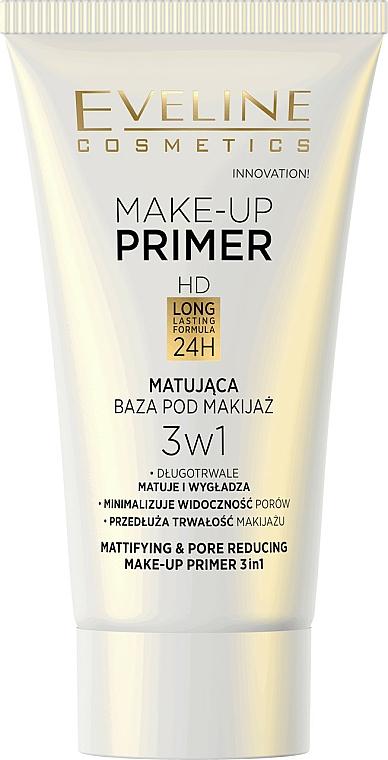 3in1 Mattierender Make-up Primer - Eveline Cosmetics Make-up Primer 3v1