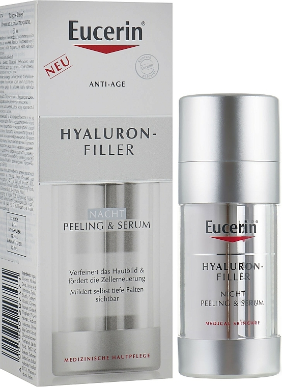 Regenerierendes Peeling-Serum für die Nacht mit Hyaluronsäure - Eucerin Hyaluron-Filler Night Peeling & Serum