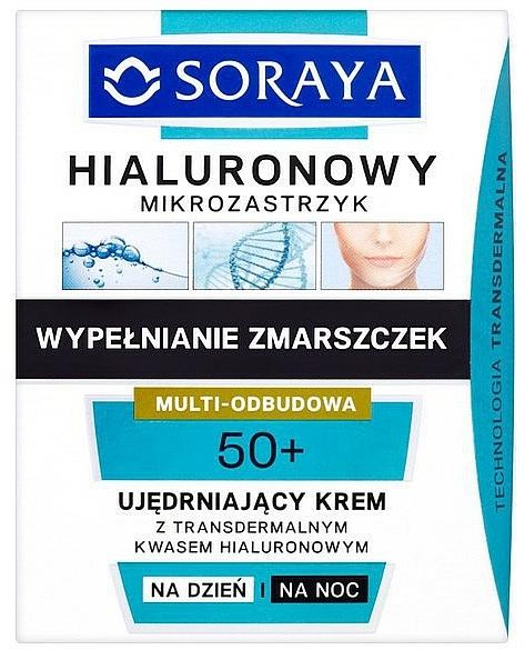 Regenerierende Tages- und Nachtcreme 50+ mit transdermaler Hyaluronsäure - Soraya Hialuronowy Mikrozastrzyk Firming Cream 50+ — Bild N1