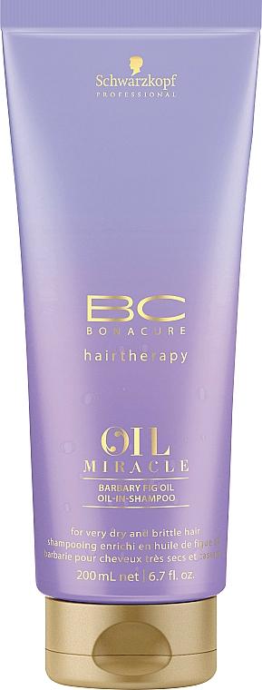 Pflegendes Ölshampoo für trockenes und strapaziertes Haar - Schwarzkopf Professional Bonacure Oil Miracle Barbary Fig Oil Shampoo