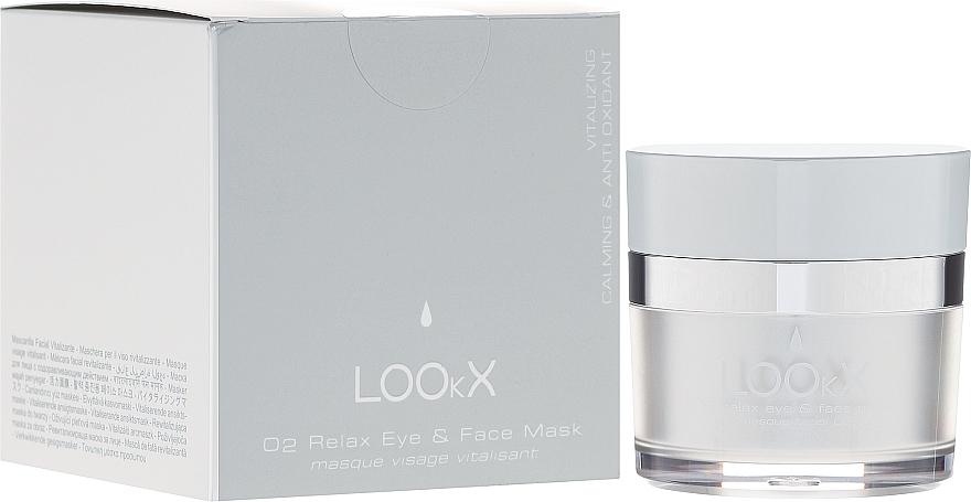 Beruhigende Augen- und Gesichtsmaske - LOOkX O2 Relax Eye & Face Mask