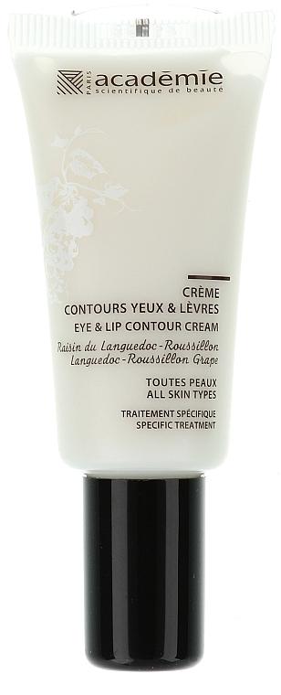 Spezialpflege gegen Fältchen, Augenschatten und Schwellungen für die Augen- und Lippenpartie - Academie Creme coutours yeux & levres
