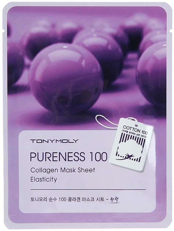 Tuchmaske mit Kollagen für mehr Elastizität - Tony Moly Pureness 100 Collagen Mask Sheet