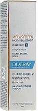Düfte, Parfümerie und Kosmetik Korrigierende und pflegende Nachtcreme gegen Falten und dunkle Flecken - Ducray Melascreen Night Cream