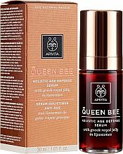 Düfte, Parfümerie und Kosmetik Anti-Aging Gesichtsserum mit griechischem Gelée Royale - Apivita Queen Bee Holistic Age Defense Serum