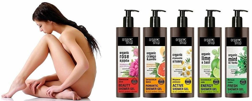 Duschöl mit Bio Minze und 7 Kräutern - Organic shop Body Foam Oil Organic Mint and 7 Herbs — Bild N3