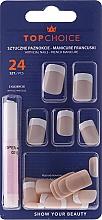 Düfte, Parfümerie und Kosmetik Künstliche Fingernägel French inkl. Kleber 74073 - Top Choice