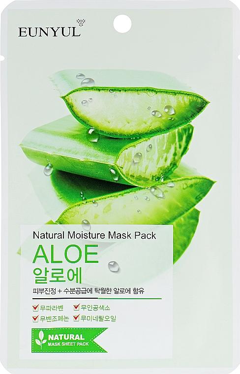 Feuchtigkeitsspendende Tuchmaske für das Gesicht mit Aloe - Eunyul Natural Moisture Mask Pack Aloe