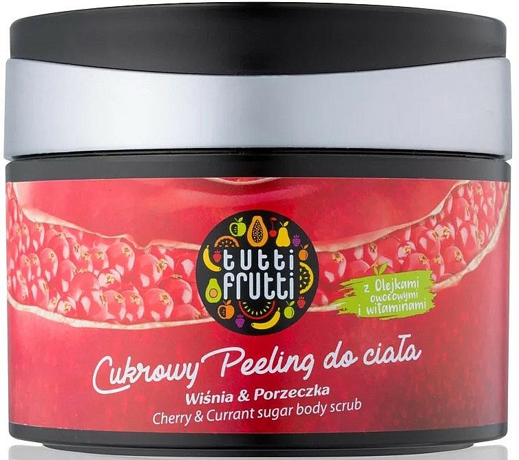 Zuckerpeeling für den Körper mit Kirsche und Johannisbeere - Farmona Tutti Frutti Sugar Body Scrub