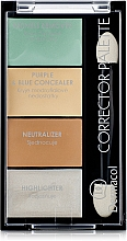 Düfte, Parfümerie und Kosmetik Concealer- und Highlighter-Palette für das Gesicht - Dermacol Corrector Palette