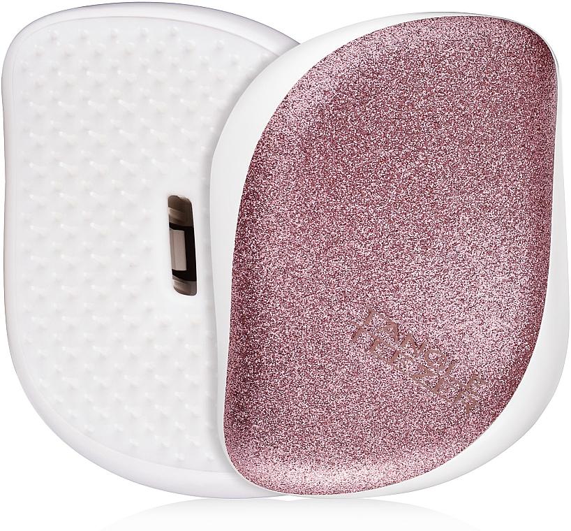 Kompakte Haarbürste - Tangle Teezer Compact Styler Glitter Rose