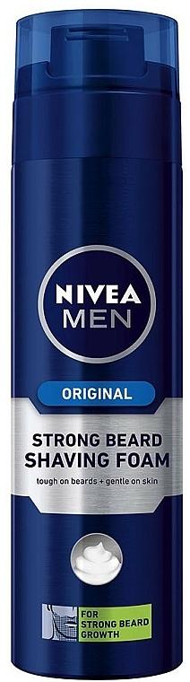 Rasierschaum bei extra starkem Bartwuchs - Nivea For Men Strong Beard Shaving Foam — Bild N1
