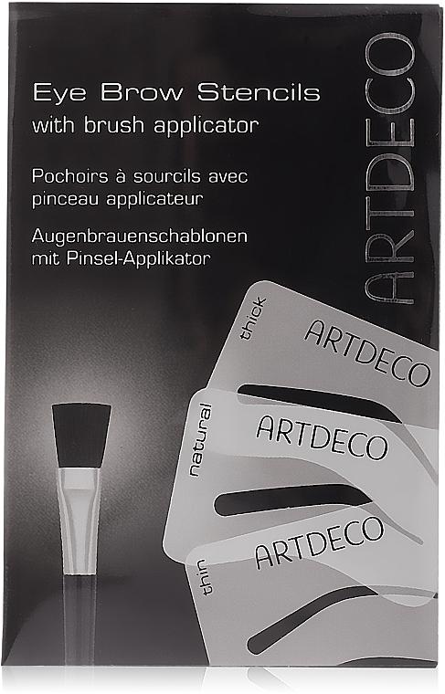 Augenbrauenschablonen mit Pinsel-Aplikator - Artdeco Eyebrow Stencials with Brush