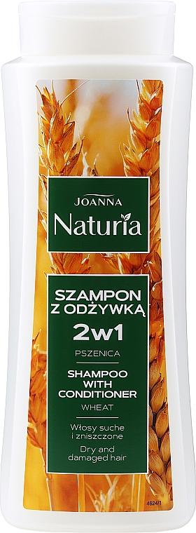 2in1 Shampoo & Conditioner für trockenes uns strapaziertes Haar mit Weizenextrakt - Joanna Naturia Shampoo With Conditioner With Wheat