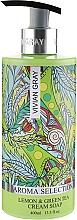 Düfte, Parfümerie und Kosmetik Flüssige Cremeseife mit Grüntee- und Zitronenduft - Vivian Gray Aroma Selection Lemon & Green Tea Cream Soap