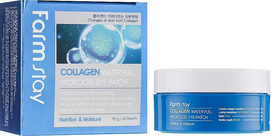 Nährende und feuchtigkeitsspendende Hydrogel-Augenpatches mit Kollagen für mehr Hautelastizität - FarmStay Water Full Hydrogel Eye Patch