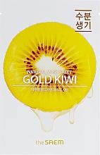 Düfte, Parfümerie und Kosmetik Tuchmaske für das Gesicht mit Kiwi-Extrakt - The Saem Natural Gold Kiwi Mask Sheet