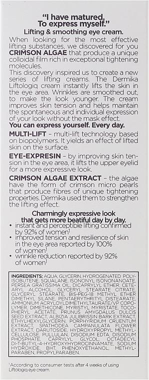 Anti-Aging Creme für die Augenpartie mit Beluga-Kaviar-Extrakt - Dermika Liftologio Eye Cream — Bild N3