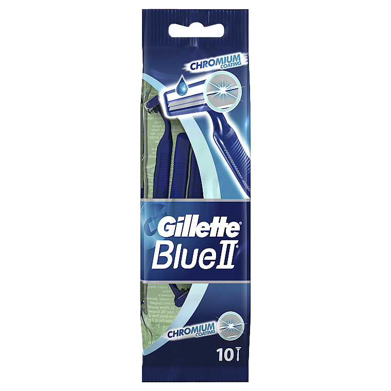 Set Einwegrasierer 10 st. - Gillette Blue II Chromium