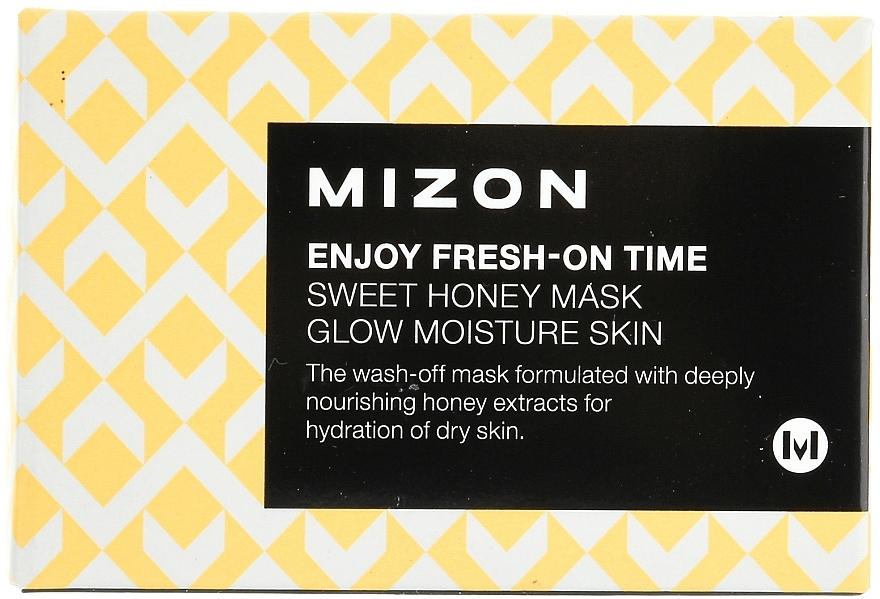 Feuchtigkeitsspendende und pflegende Gesichtsmaske mit Honigextrakt - Mizon Enjoy Fresh On-Time Mask Honey Mask