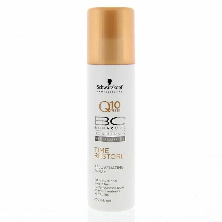 Nährendes Haarspray mit Q10 Plus für reifes und brüchiges Haar - Schwarzkopf Professional Bonacure Rejuvenating Spray Q10 Plus