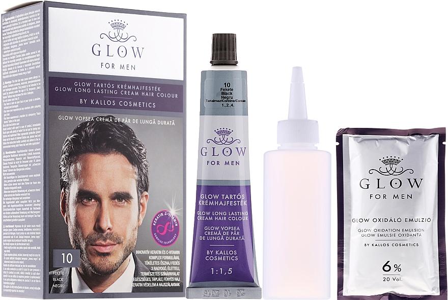 Haarfarbe - Kallos Cosmetics Glow Long Lasting Cream Hair Colour Man