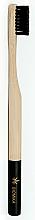 Düfte, Parfümerie und Kosmetik Bambuszahnbürste mittel schwarz - Biomika Natural Bamboo Toothbrush