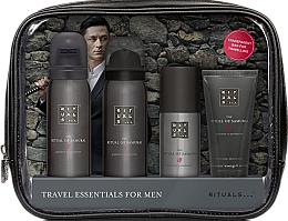 Düfte, Parfümerie und Kosmetik Gesichtspflegeset für Männer - Rituals The Ritual of Samurai Essentials Travel Set (Schaumgel 50ml + Rasierschaum 50ml + Gesichtscreme 30ml + Deospray 50ml + Kosmetiktasche)