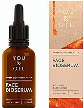 Düfte, Parfümerie und Kosmetik Pflegendes und aufhellendes Gesichtsserum mit Bernsteinöl und Mineralwasser - You & Oil Amber. Face Bioserum