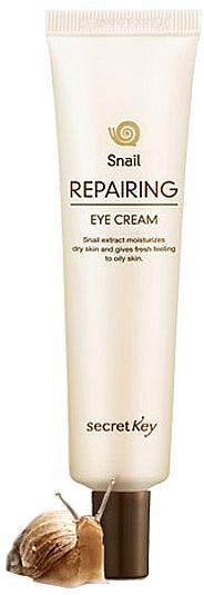 Feuchtigkeitsspendende, festigende und aufhellende Augenkonturcreme mit Schneckenextrakt - Secret Key Snail Repairing Eye Cream