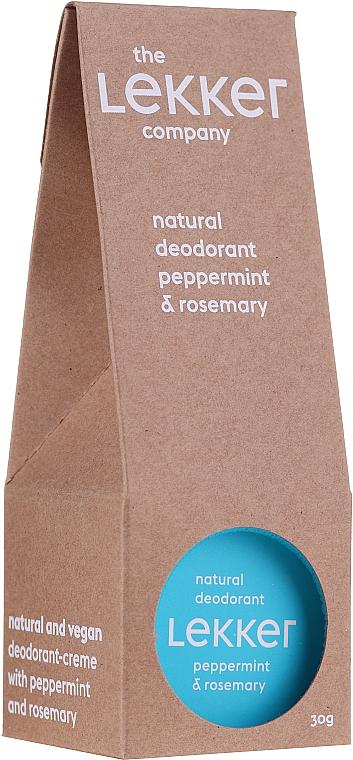 Natürliche Deocreme mit Pfefferminz- und Rosmarinöl - The Lekker Company Natural Deodorant