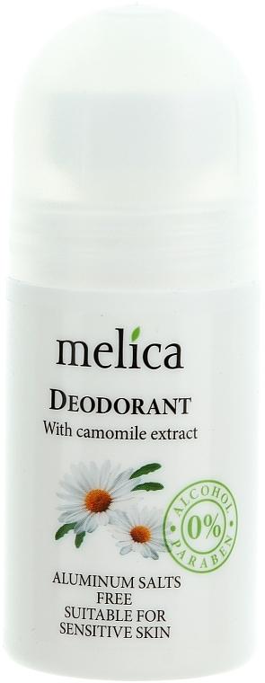 Deo Roll-on mit Kamillenextrakt - Melica Organic With Cornflower Extract Deodorant