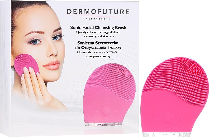 Elektrische Gesichtsreinigungsbürste aus Silikon rosa - Dermofuture