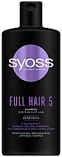 Düfte, Parfümerie und Kosmetik Stärkendes Shampoo mit Tiger-Gras für dünnes und plattes Haar - Syoss Full Hair 5 Shampoo
