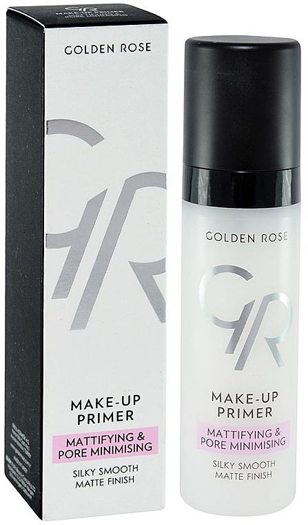 Mattierende Grundierung zur Porenminimierung - Golden Rose Make-Up Primer Mattifying & Pore Minimising